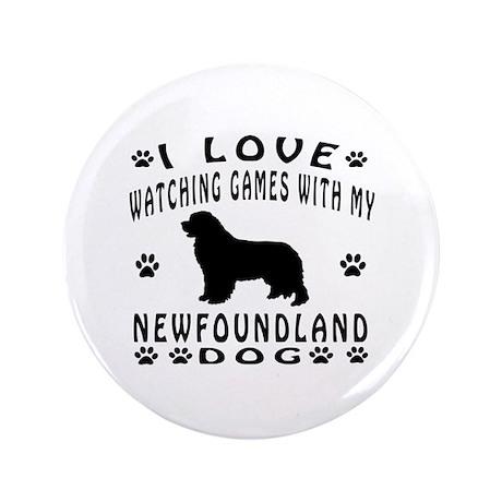 """New Foundland design 3.5"""" Button"""