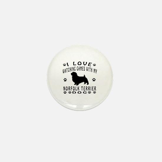 Norfolk Terrier design Mini Button
