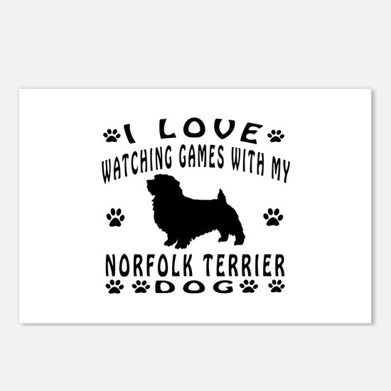 Norfolk Terrier design Postcards (Package of 8)