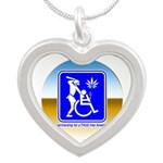 Thug Free America Silver Heart Necklace
