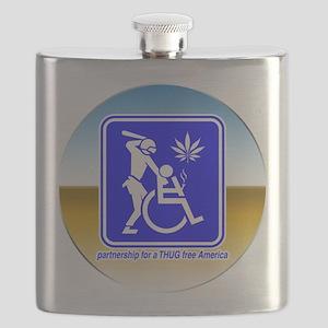 Thug Free America Flask