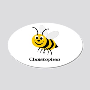 Bee 20x12 Oval Wall Decal