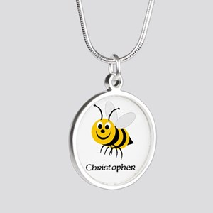 Bee Silver Round Necklace