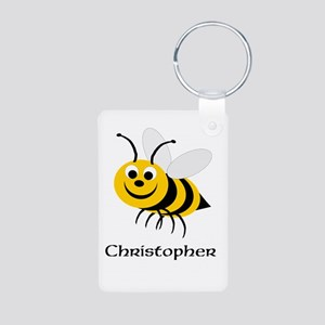 Bee Aluminum Photo Keychain