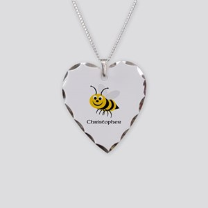 Bee Necklace Heart Charm