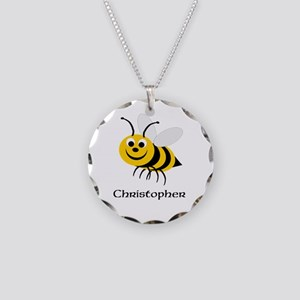 Bee Necklace Circle Charm