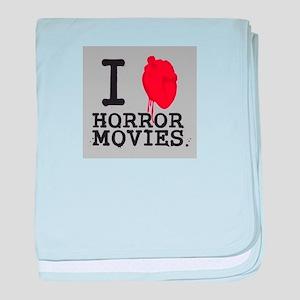 I <3 Horror Movies baby blanket