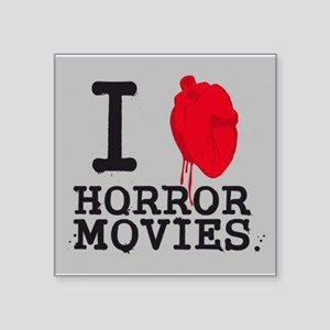 I <3 Horror Movies Square Sticker 3&quot; x 3&quot;