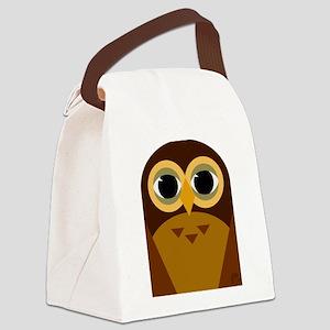 Owl Canvas Lunch Bag