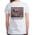 Women's White T-shirt- front and back images