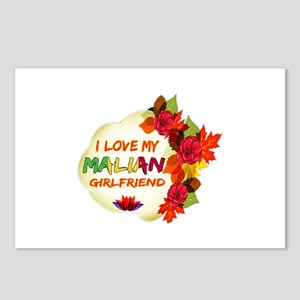 Malian Girlfriend Valentine design Postcards (Pack