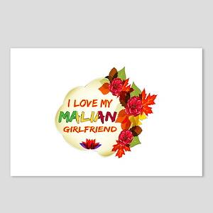 Malian Girlfriend Valentine design Postcards (Pack