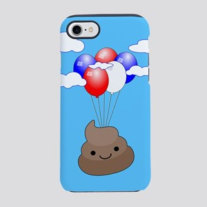 Poo Emoji Flying With Balloons iPhone 7 Tough Case