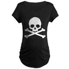 Simple Skull And Crossbones Maternity Dark T-Shirt