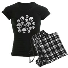 Random Skull Pattern Pajamas