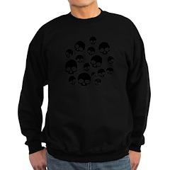 Random Skull Pattern Sweatshirt (dark)