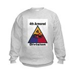 4TH ARMORED DIVISION Kids Sweatshirt