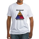 4TH ARMORED DIVISION Fitted T-Shirt