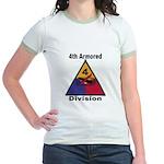4TH ARMORED DIVISION Jr. Ringer T-Shirt
