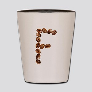 F Coffee Beans Shot Glass