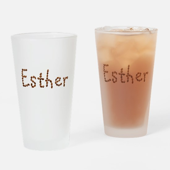 Esther Coffee Beans Drinking Glass