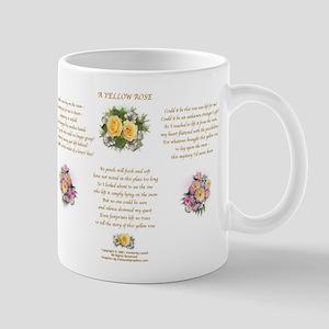 Yellow Rose Design 1 Mug Right
