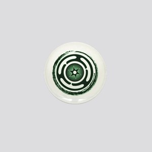 Green Hecate's Wheel Mini Button