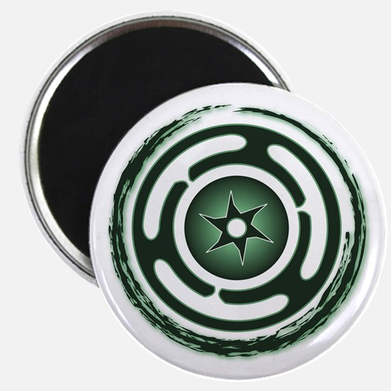 Green Hecate's Wheel Magnet