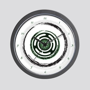 Green Hecate's Wheel Wall Clock