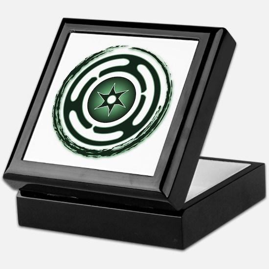 Green Hecate's Wheel Keepsake Box