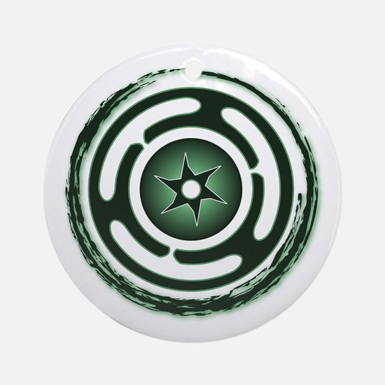 Green Hecate's Wheel Ornament (Round)