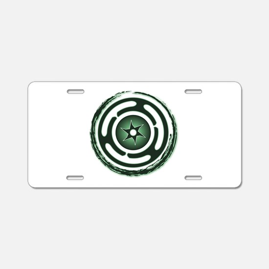 Green Hecate's Wheel Aluminum License Plate