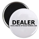 Dealer button fridge magnet