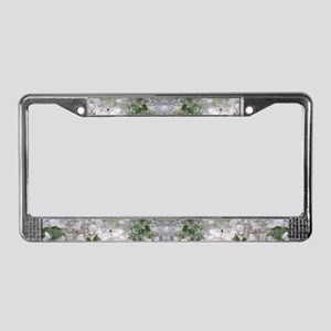 Ice Pearls License Plate Frame