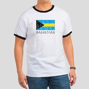 Bahamas Flag Ringer T