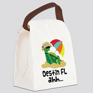 Destin Florida Turtle Canvas Lunch Bag