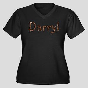 Darryl Coffee Beans Women's Plus Size V-Neck Dark