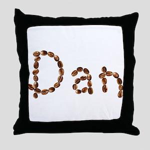 Dan Coffee Beans Throw Pillow