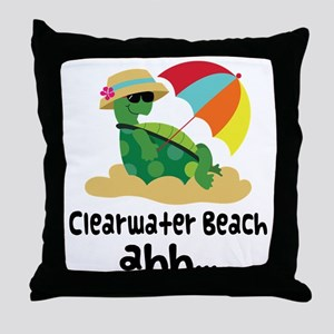 Clearwater Beach Turtle Throw Pillow