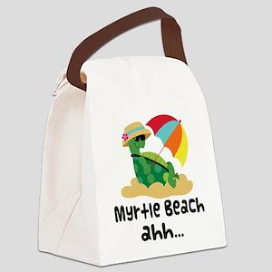 Myrtle Beach Turtle Canvas Lunch Bag