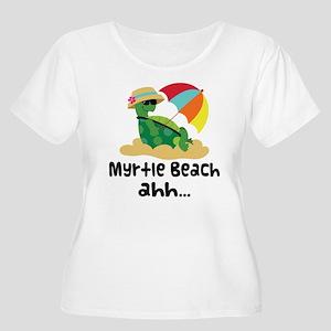 Myrtle Beach Turtle Women's Plus Size Scoop Neck T