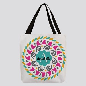 Personalized Monogrammed Gift Polyester Tote Bag