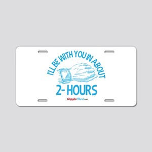 2-Hour Call Bell 02 Aluminum License Plate