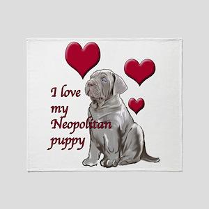 Neopolitan Puppy Love Throw Blanket