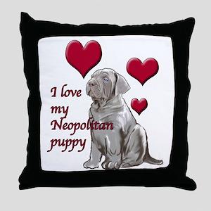Neopolitan Puppy Love Throw Pillow