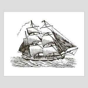 Vintage Sail Ship Small Poster