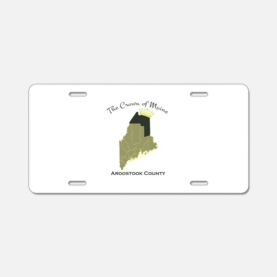 Crown of Maine Aluminum License Plate