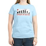 Evolution of the Cat - Women's Light T-Shirt