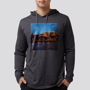 Castle night view Mens Hooded Shirt