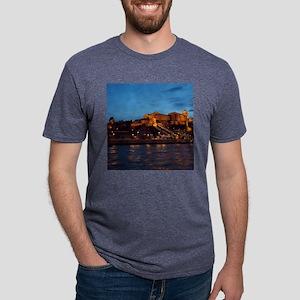 Castle night view Mens Tri-blend T-Shirt